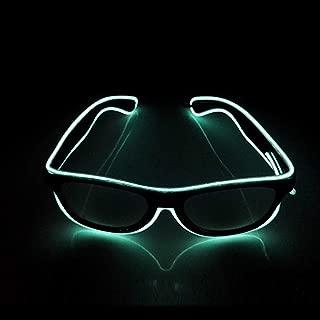 Luminous LED Glasses Adjustable Flashing LED Light Up Glasses, Novelty Party Favor Glowing Eyeglasses (White)