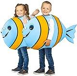 My Other Me Disfraz de Pez Azul y Naranja para niños