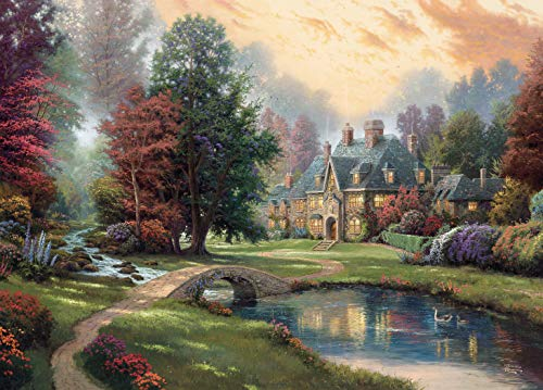 Ceaco Thomas Kinkade - Lakeside Manor Jigsaw Puzzle, 1000 Pieces