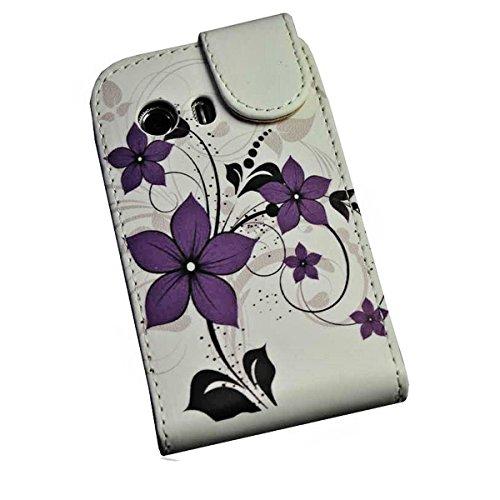 wicostar Handy Tasche Flip Style - Design No.6 - Cover Hülle Case Etui für Samsung S5360 Galaxy Y