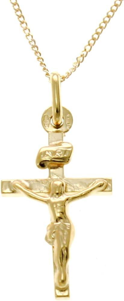 Alexander castle ,collana con ciondolo a forma di crocifisso in oro 9 kt/375(2,8gr) CRU-GX53-CHNa