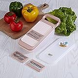 Trituradora para el hogar, Cortador de Verduras multifunción, cortadora portátil para Cortar Verduras y escurrir, Beige