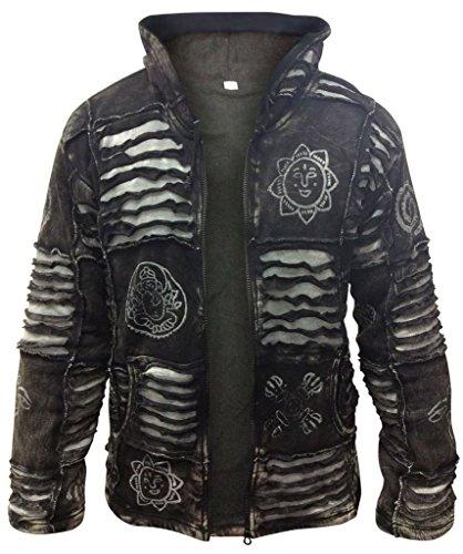 Shopoholic Fashion Mens Fleece Lined Black Goth Emo Winter Jacket(S)