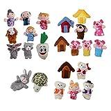 freneci 24 Piezas de Marionetas de Dedo Nursery 3 Cerditos Juguetes de Mano de Felpa para Bebés