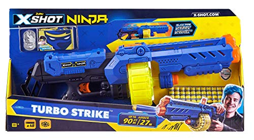 Zuru- X-Shot Ninja Turbo Strike 48 Dardi, Multicolore, 36319