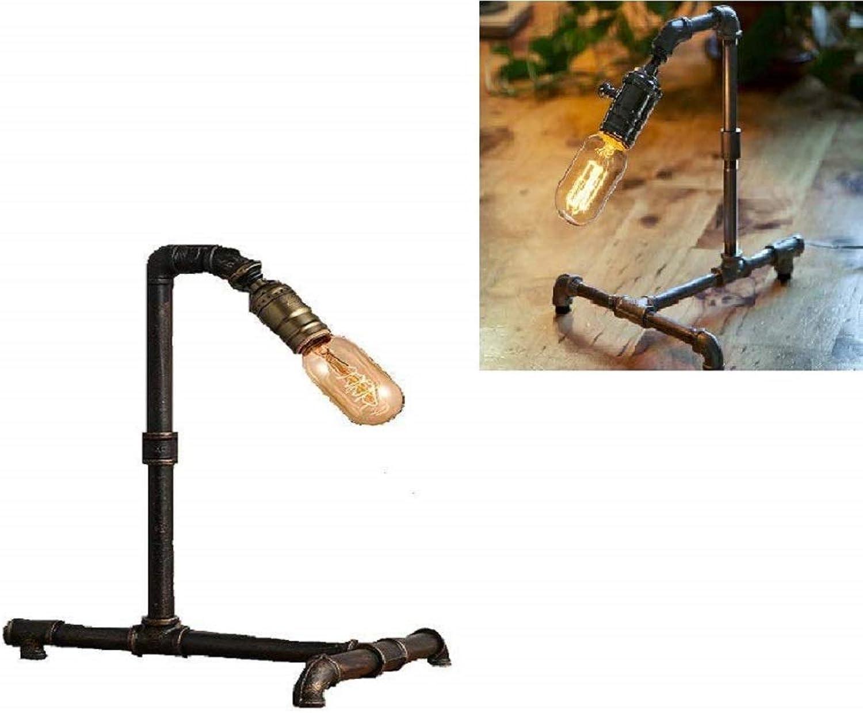 WSJ Lampe, Industrielle Wasserleitung Light Light Light Pipe Tischlampe Retro Steampunk Tischlampe Retro Metal Edison Lighting B07GL1J94D | Online Outlet Shop  adeea3