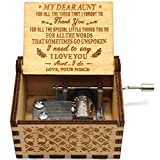 You are My Sunshine Music Box - Caja de música con diseño de sobrina a tía, 1 set (TK)