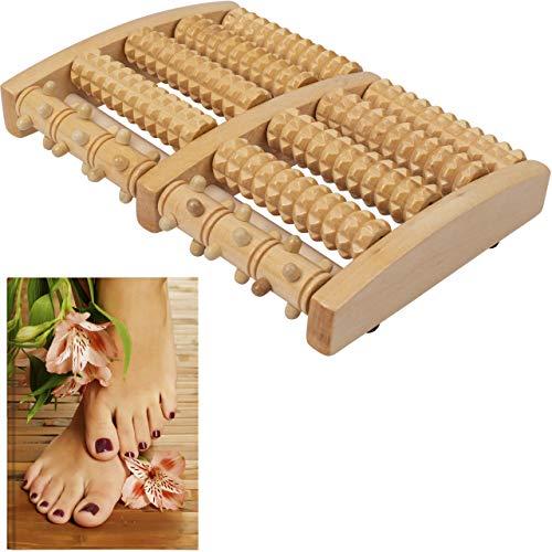 Fußmassageroller Holz - Fussmassagegerät sorgt für wohltuende Massage – Fußroller für die Fußmassage überall +PLUS: eBook