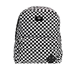 "One (1) main compartment with Laptop Sleeve/Protection One (1) front pocket with internal organizer. Black with checkerboard print canvas exterior. 100% Polyester Adjustable padded shoulder straps with Haul handle Dimensions: 16.75"" H x 12.75"" L x 4...."