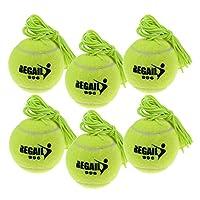 Kloware 6個交換用テニストレーナーボールシングルセルフスタディロープ付きテニストレーナー