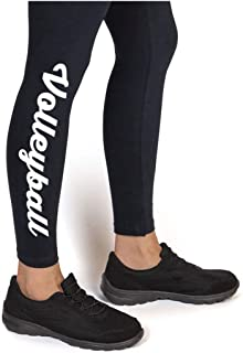 Volleyball Script Leggings   Volleyball Leggings by ChalkTalk SPORTS   Multiple Colors   Youth To Adult Sizes