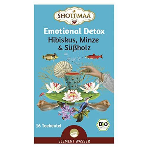 6 x Shoti Maa Bio Tee   Emotional Detox   Hibiskus, Minze & Süßholz   Gewürz- und Kräutertee   Ayurveda Tee   6 x 16 Teebeutel (96 Teebeutel)