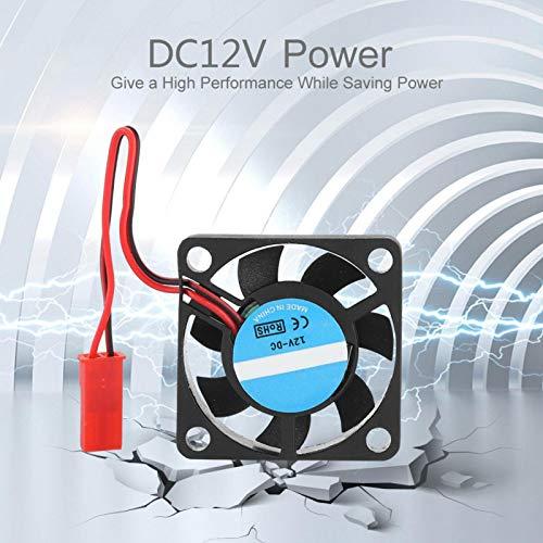 Mothinessto Ventilador de enfriamiento sin escobillas más frío de 12V para Impresora 3D