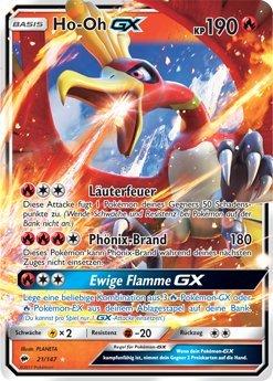 TPCI Pokémon - Ho-Oh GX - 21/147 - Inglese - Sun&Moon 3: Burning Shadows