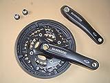 Shimano Deore biela FC TLP-T521Octalink 170mm 48Z Negro con Protector de cadena