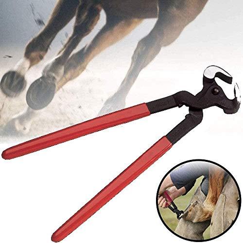 SAHAPA Hufzange Hufpflege Klauenpflege, Horse Hoof Farriers Nipper, Hufschneidezange, Mehrzweck-Hufschneider für Ziegen Schafschweine Rinderpferde,für Tierhufreparatur