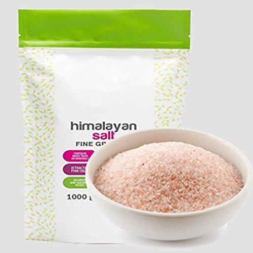 PINK SALT 1kg | Typ: Himalaya - Kristallsalz aus Pakistan nach traditionellem Abbau | Fein gemahlen, Körnung 0,4 - 0,85 mm | Premium Qualität im wiederverschließbaren Frischebeutel (1kg)