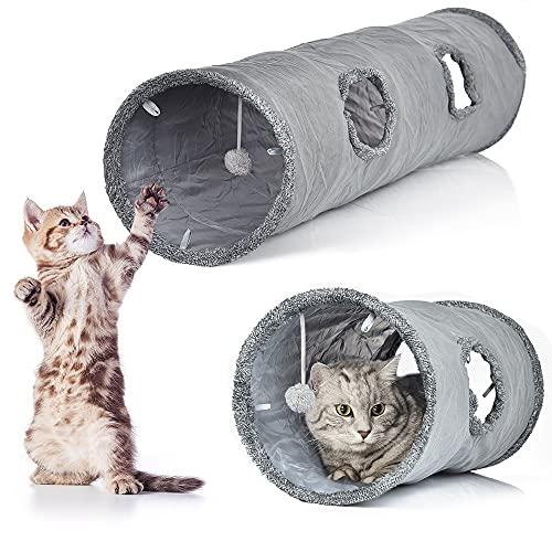 LvSenLin Forma Recta Pet Cable Tunnel 2 Agujeros Divertidos Gatito Animales Plazo...