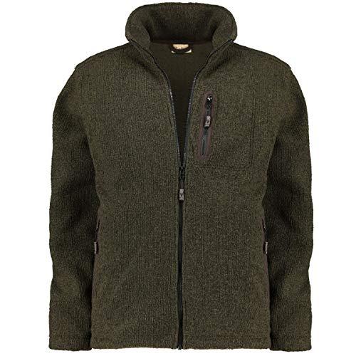 Hubertus Übergrößen Herren Bequeme Jacke aus elastischem Techno-Knit-Material Oliv_315 5XL