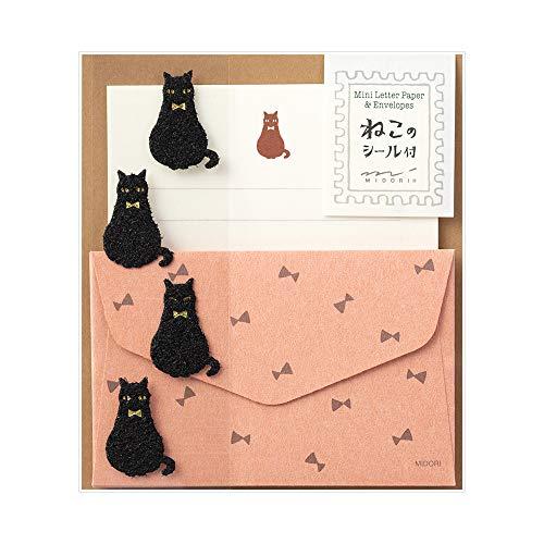 Mini sobres, papel de cartas, gato