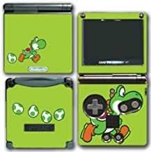Yoshi Special Egg Green Edition Super Mario Bros New Island DS Woolly World Video Game Vinyl Decal Skin Sticker Cover for Nintendo GBA SP Gameboy Advance System