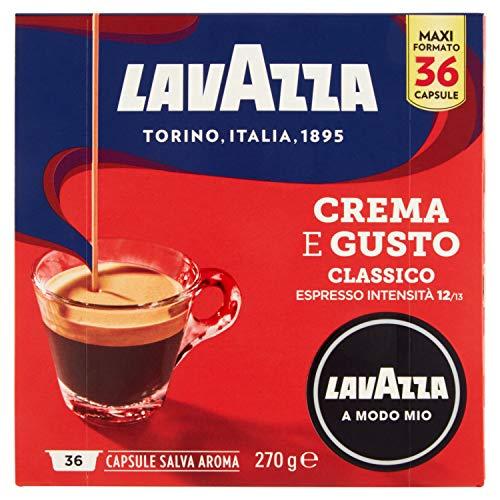 Lavazza Caffè Crema Gusto Classico a Modo Mio, 36 Capsule, 270g