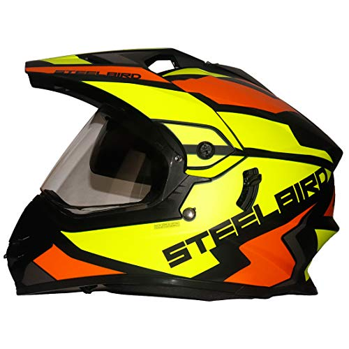Steelbird SBH-13 / SB-42 Bang Silt Motocross Helmet in Matt Finish (Large...