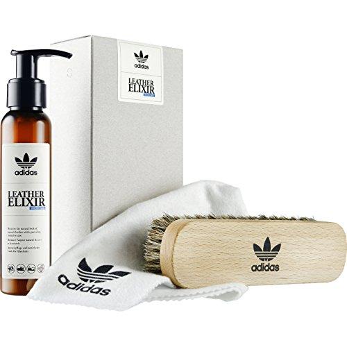 adidas originals Leather Elixir - Sneaker Pflege-Set für Glattleder, Textilien und Synthetics, 90 ml