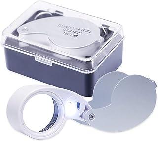 Exdevices W-LED付きルーペ 40倍 レンズ径25mm ハードケース付属 本体に電池セット済で届いたらすぐに使えます! 日本語説明書付き [安心の商品到着後90日間保証]