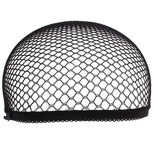interjunzhan Dome Wig Caps Stretch Cool Mesh Weaving Hairnet Cap Cosplay Model Tool Preto