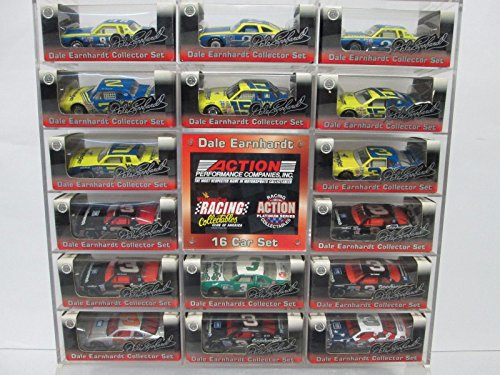 RARE RCCA 16 Car Set 1/64 Scale Diecast Cars With Acrylic Display Stand Dale Earnhardt Sr #3
