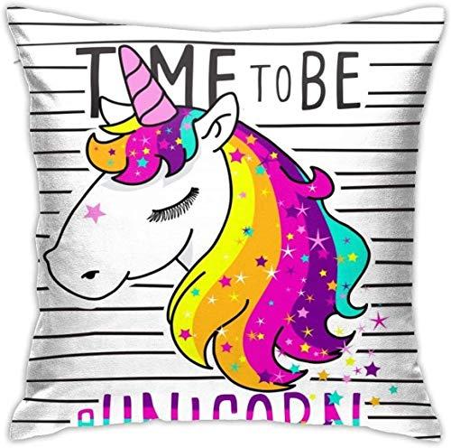 Bxad Throw Pillow Covers Cute Unicorn in Sheet Music Pillowcase Cushion Case for Sofa Bed Chair Home Decor.(18x18 Inch)