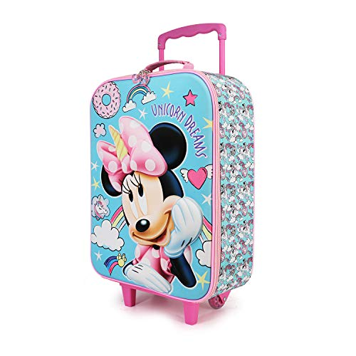 Karactermania Minnie Mouse Unicornio - Maleta Trolley Soft 3D, Multicolor, Un tamaño