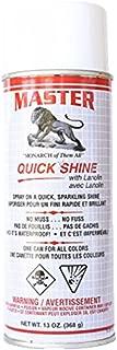 Master Quick w/Lanolin Shine Leather Shoe Boot Shine Spray - No Buff 13 oz.