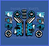 Ecoshirt N9-ILLB-29SY Pegatinas Fox Float 32 2015 Heretage Dp1086 Stickers Aufkleber Decals Autocollants Adesivi, Azul