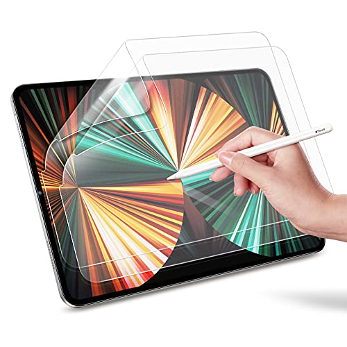 "ESR (2-Pack) Paper-Feel Screen Protector for iPad Pro 12.9""(2020/2018) [Supports iPad Pencil] [Write & Draw Like on Paper] Anti-Glare Matte PET Film for iPad Pro 12.9-Inch (2020/2018) (Not Glass)"