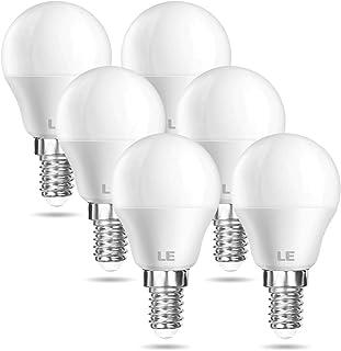 LE E14 LED Lampe, 6er-Pack, 5W 470 Lumen Glühbirne,entspricht 40W Glühlampe, 2700 Kelvin Warmweiß, P45 200° Abstrahlwinkel...