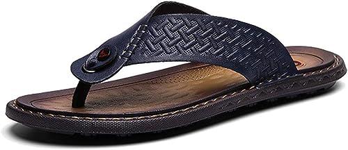 L-X Tongs Tongs pour Hommes Outdoor Outdoor Chaussures de Plage Printemps Et en été Sandales Grande Taille Pantoufles, Bleu, 38 UE  vente en ligne