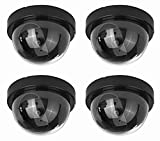 Fake Security Cameras (4 Pack) CCTV Dome Dummy Camera with...