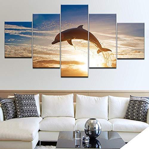 La décoration murale multi-panneaux sur le thème du dauphin