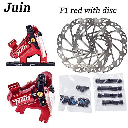 Juin Tech F1 Cyclocross Kies Fahrrad Fahrrad Hydraulische Scheibenbremse Bremssattel Set (rot)
