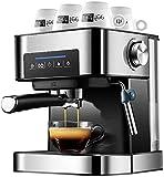 JLKDF Coffee Make 4 Cup, Máquina de café con Molinillo para café de Goteo, Café expreso, Máquina de café con espumador de Leche