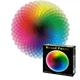 OZMI Jigsaw Puzzles 1000 Pieces for Adults and Kids, Gradient Color Rainbow Large Round Jigsaw Puzzles 1000 Pieces, Puzzles for Kids 68X68cm (26.6X26.6inch)