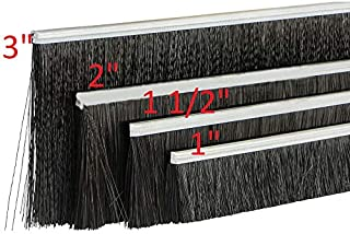 Garage Door Weather Brush Bottom Seal. Width: 1 1/2