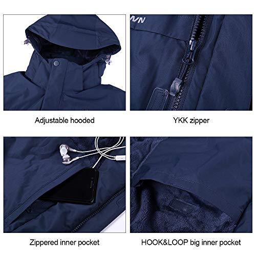 51 yDMXH8pL. SS500  - CAMEL CROWN Men's Mountain Snow Waterproof Ski Jacket Detachable Hood Windproof Fleece Parka Rain Jacket Winter Coat