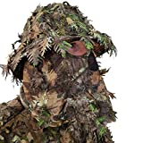 QuikCamo NWTF Mossy Oak Obsession Camo Bucket Hat with Built-in 3D Leafy Face Mask, Turkey Hunting Gear for Ghillie Suits and Bowhunting (Adjustable, One Size Fits Most)