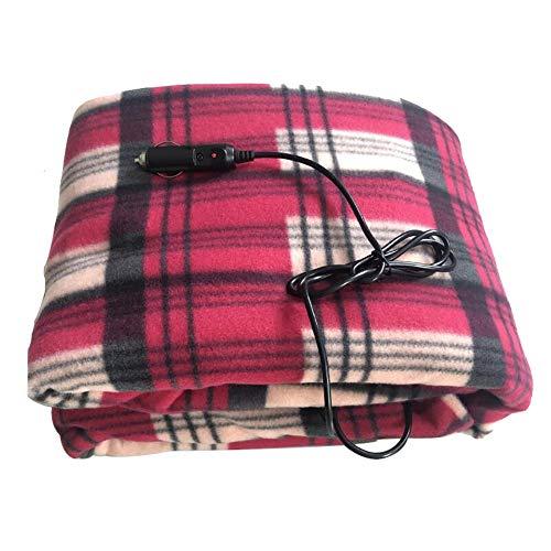 DTer Auto-verwarmingsdeken, 12 V, elektrisch, deken voor auto, truck fleece, gezellige deken voor op reis, 150 x 100 cm