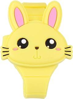 Hemobllo orologio da polso in silicone a forma di coniglio orologio da polso a conchiglia orologio digitale per bambini ra...
