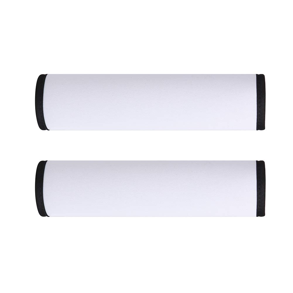 Sublimation Blanks Car Seat Belt Pads Cover, 2 Pcs Neoprene Comfortable Replacement Shoulder Strap Pads Universal Car Seat Belt Shoulder Pads Strap Covers for Children (White (Only for Kids))