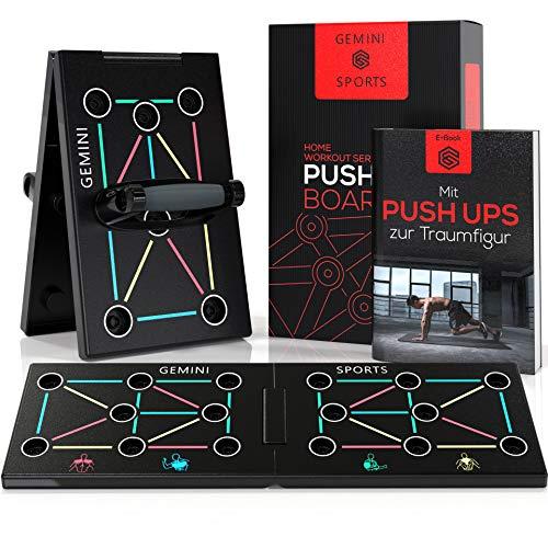 Gemini Sports Push Up Board - Liegestützbrett inklusive E-Book zum Muskelaufbau - Liegestützgriffe für Dein Krafttraining zuhause im Home Gym - Premium Liegestütze Brett